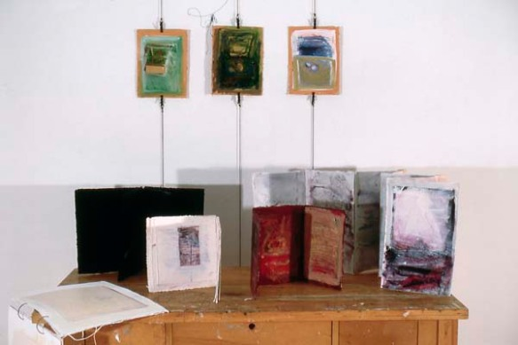 Marilyn Rubenstein: Installation with Hanging Books
