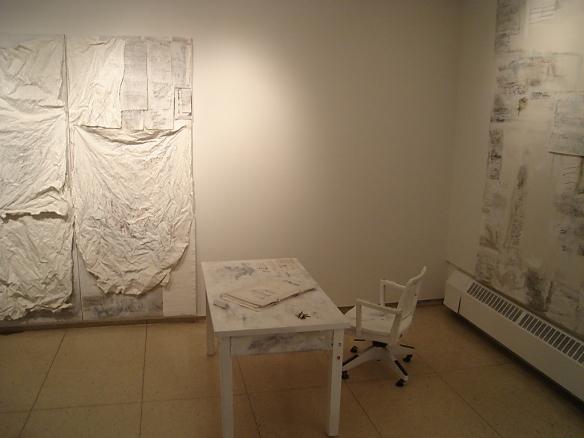Marilyn Rubenstein: Installation with Desk, Chair and Keys