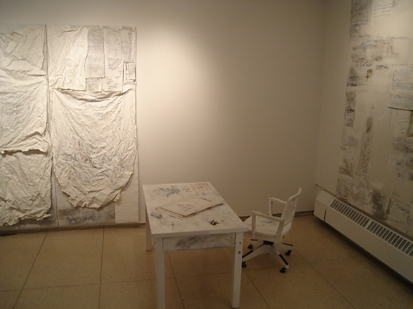 Marilyn Rubenstein: Installation with Desk, Chair and Keys